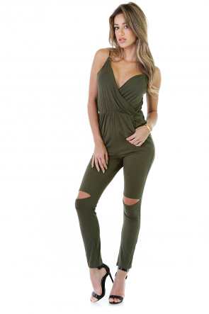 Survive Knee CutOut Jumpsuit