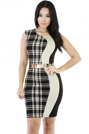 Plaid Design Dress