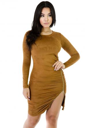 Suede Bella Zip Dress