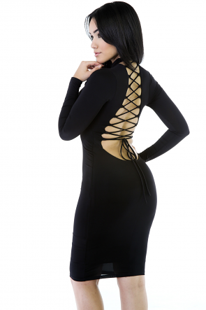 Sleeves BodyCon Dress