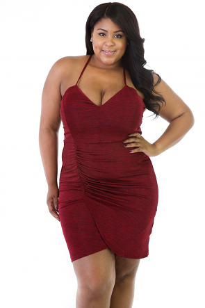 Sliming Ruched Dress