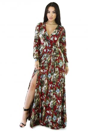 Flower Drop Maxi Dress