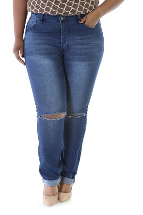 Kneeled Distress Jeans