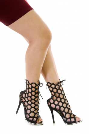 Hexagon Cutout Booties