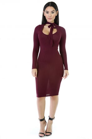 Mockin Bow Neck Dress