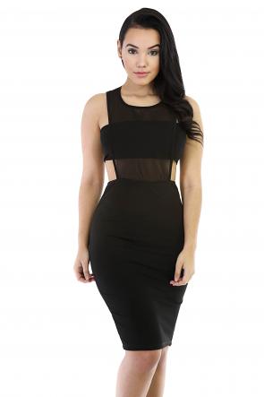Gothic Chic Midi Dress