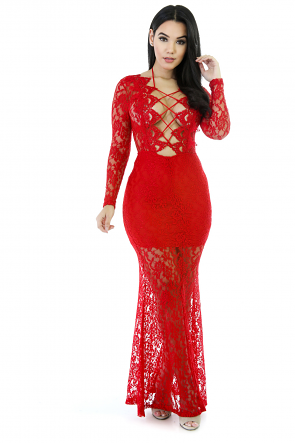 Knity Reversible Lacey Maxi Dress