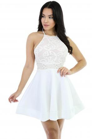 Flawless Flare Kniitt Dress