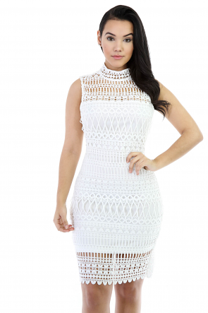 Let Me-Be Crochet Dress