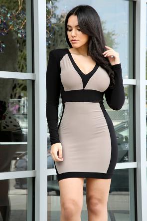 Zipper Bodycon Dress