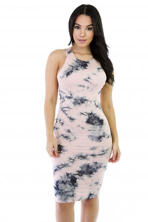 Happy Tie-Dye Midi Dress