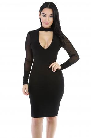 Seduction Stretchy Bodycon Midi Dress