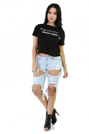 Frenchies Girls Tee Top