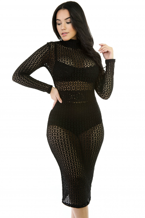 Netty Trough Midi Bodycon Dress