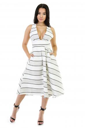 Bonita Flare Poly Dresss