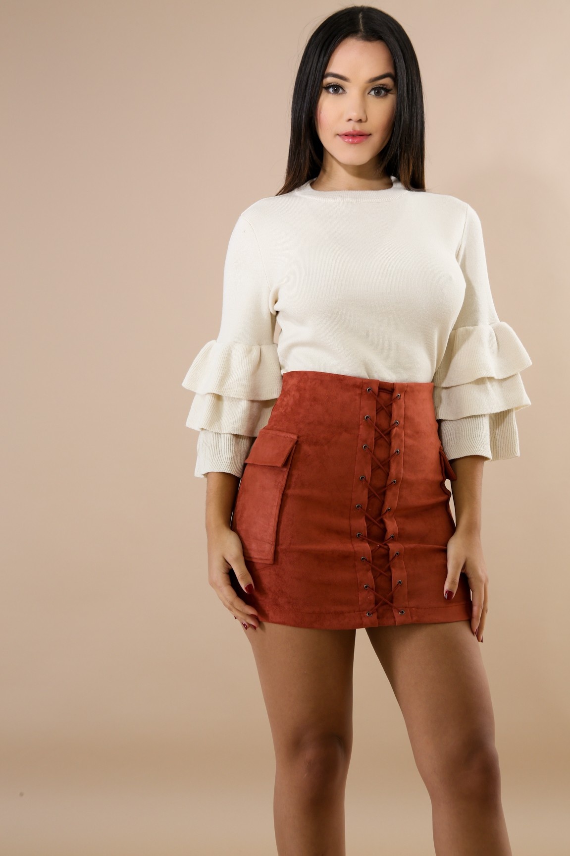 9be52b003e6 Suede X Skirt